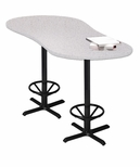 Bistro 72'' Peanut Bar Height Table with Black Cast Iron Base - Folkstone [CA2PHTFLK-FS-MAY]