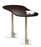 Bistro 72'' Peanut Bar Height Table with Stainless Steel Base - Anthracite [CA3PHTANT-FS-MAY]