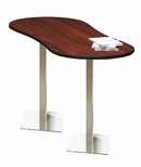 Bistro 72'' Peanut Bar Height Table with Stainless Steel Base - Regal Mahogany [CA3PHTRMH-FS-MAY]
