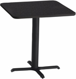 Bistro 36'' Square Bar Height Table with Black Cast Iron Base - Anthracite with Black T-Mold [CA36SHBTANT-FS-MAY]