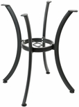 Boxed Aluminum 28''H Outdoor Quad Leg Round Table Base - Black [AL-1316-BLACK-FLS]