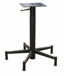 Black Matte Adjustable 30'' Five Spoke Lift Base With Adj. Glides and Hand Lever [694-1030-BLK-PMI]