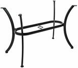 Boxed Aluminum 22''W x 33''D x 28''H Outdoor Quad Leg Oval Table Base - Black [AL-1316DP-BLACK-FLS]