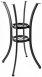 Boxed Aluminum 42''H Outdoor Quad Leg Round Bar Table Base - Black [AL-1316-BH-BLACK-FLS]