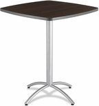 CafeWorks Bistro 36'' Square Table - Walnut [65634-ICE]