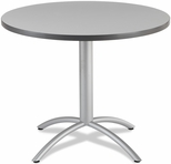 CafeWorks Cafe 36'' Round Table- Gray [65621-ICE]