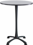 Cha-Cha™ 36'' Round; X Base Bistro Height - Gray and Black [2482GRBL-SAF]