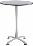 Cha-Cha™ 36'' Round; X Base Bistro Height - Gray and Silver [2482GRSL-SAF]