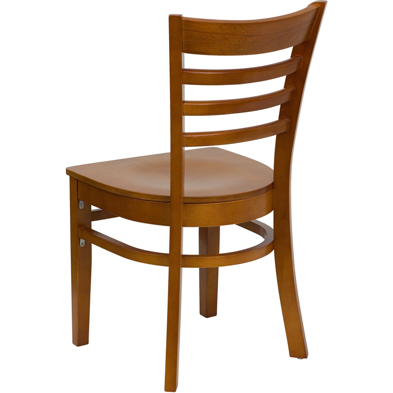 Cherry Finished Ladder Back Wooden Restaurant Chair BFDH