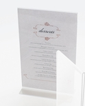 Classic T-Type Tabletop Clear Acrylic 4''W x 6''H Card Holder [512-CLM]