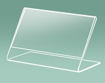 Classic Tabletop Clear Acrylic 3.5''W x 2''H Easel Card Holder [509-CLM]