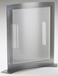 Clear and Silver Acrylic Curved Forma 8.5'' x 11'' Card Holder [828-CLM]