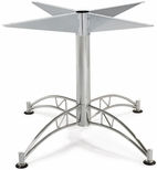 Contemporary 28.5''H Cafe Table Base with Nylon Leveling Glides - Chrome [LTBASE-LARGE-FS-MFO]