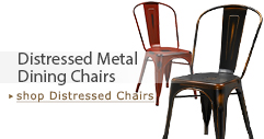Distressed Metal Dining Chairs