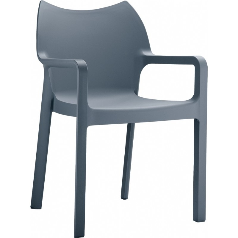 Grey Resin Patio Furniture ~ Diva Resin Outdoor Dining Arm Chair Dark Gray,  ISP028DGR - Grey Resin Patio Furniture_14031015 ~ Ongek.net : Inspiration