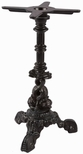 Dolphin Decorative Cast Iron Table Base with Column and 16'' Base - Black [DOLPHIN-CAST-IRON-TABLE-BASE-JMC]