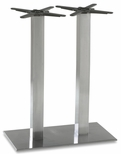 Elite Stainless Steel Double Column Rectangular Base - Bar Height [PHTB1630SST-BFMS]
