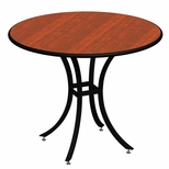Elo Cafe 36'' Round Table at a Fixed 42'' Height with Lotz Armor Edge™ and HPL Top [ELC7190-42-NSL]