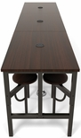 Endure 141''W Steel Frame Table with 12 Swivel Seats - Walnut Table Top and Walnut Seats [9012-WLT-WLT-MFO]