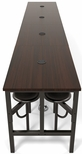 Endure 186''W Steel Frame Table with 16 Swivel Seats - Walnut Table Top and Dark Vein Seats [9016-DVN-WLT-MFO]