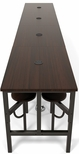 Endure 186''W Steel Frame Table with 16 Swivel Seats - Walnut Table Top and Walnut Seats [9016-WLT-WLT-MFO]