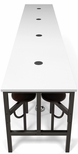 Endure 186''W Steel Frame Table with 16 Swivel Seats - Dry Erase White Table Top and Walnut Seats [9016-WLT-WHT-MFO]