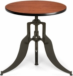 Endure 30'' Round Adjustable Dining to Bar Height Table - Cherry [AT30RD-CHY-FS-MFO]