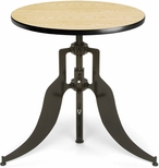 Endure 30'' Round Adjustable Dining to Bar Height Table - Oak [AT30RD-OAK-FS-MFO]