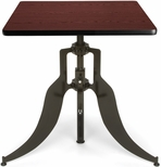 Endure 30'' Square Adjustable Dining to Bar Height Table - Mahogany [AT30SQ-MHGY-FS-MFO]
