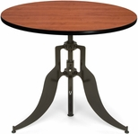 Endure 36'' Round Adjustable Dining to Bar Height Table - Cherry [AT36RD-CHY-FS-MFO]