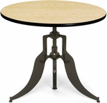 Endure 36'' Round Adjustable Dining to Bar Height Table - Oak [AT36RD-OAK-FS-MFO]