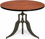 Endure 42'' Round Adjustable Dining to Bar Height Table - Cherry [AT42RD-CHY-FS-MFO]