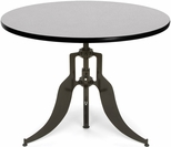 Endure 42'' Round Adjustable Dining to Bar Height Table - Gray Nebula [AT42RD-GRYNB-FS-MFO]