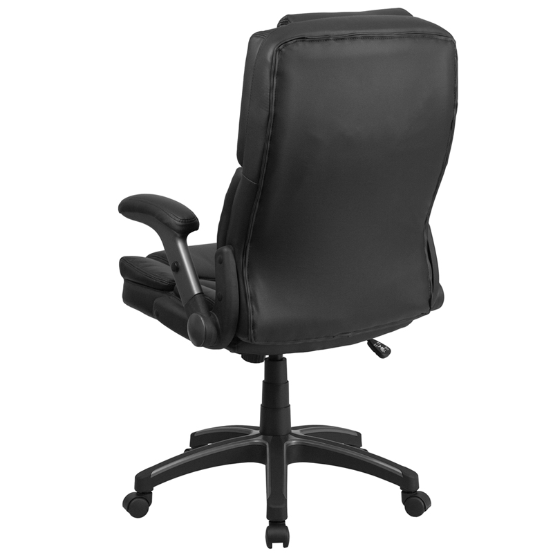 Extreme Comfort High Back Black Leather Executive Swivel