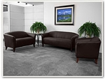 Flash Furniture Imperial Reception Series in Brown