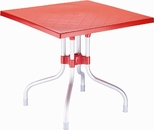31''W Forza Square Folding Table - Red [ISP770-RED-FS-CMP]