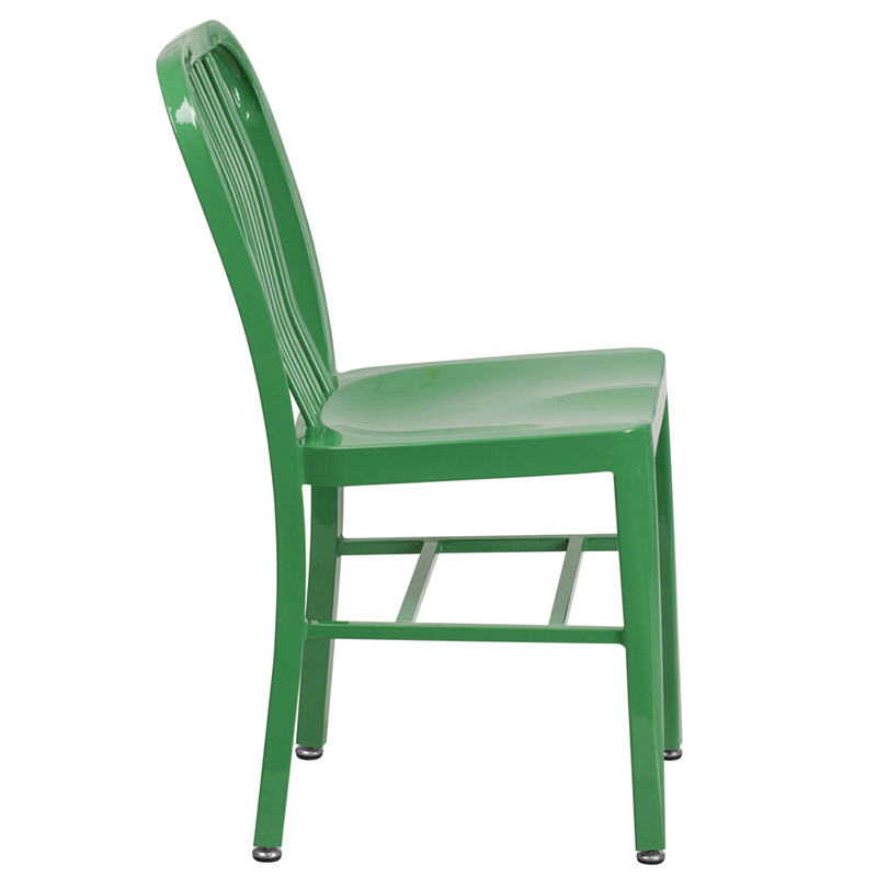 Green Metal Indoor Outdoor Chair CH 18 GN GG