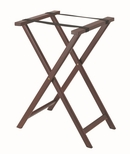 Hardwood Tray Stand with Nylon Support Straps - Dark Stain and Semi Gloss Lacquer Finish [TS-3-AA]