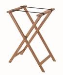 Hardwood Tray Stand with Nylon Support Straps - Medium Stain and Semi Gloss Lacquer Finish [TS-2-AA]