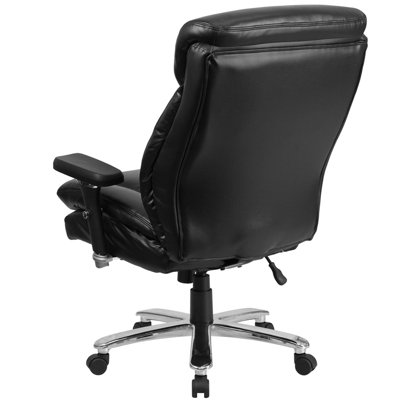 HERCULES Series 24 7 Intensive Use Big Tall 400 Lb Rated Black Leather