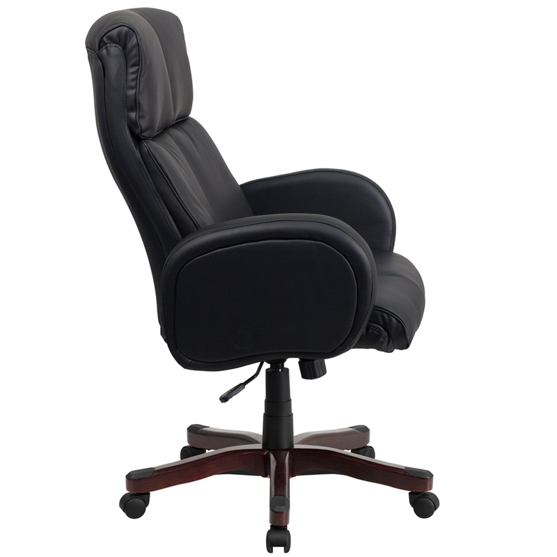 High Back Black Leather Executive Swivel fice Chair with