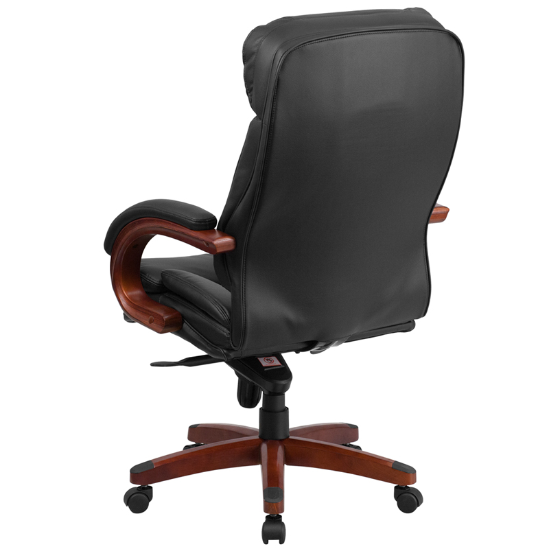 High Back Black Leather Executive Swivel Chair with ...