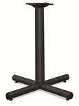 HON® Single Column Steel Base - 26w x 26d x 27-7/8h - Black [HONXSP26P-FS-NAT]