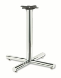 HON® Single Column Steel Base - 26w x 26d x 27-7/8h - Chrome [HONXSP26CHR-FS-NAT]