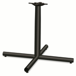 HON® Single Column Steel Base - 36w x 36d x 27-7/8h - Black [HONXSP36P-FS-NAT]