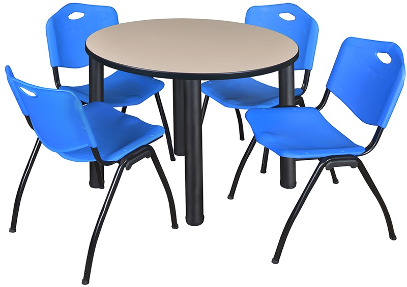 Kee 36 Round Laminate Breakroom Table With 4 M Stack
