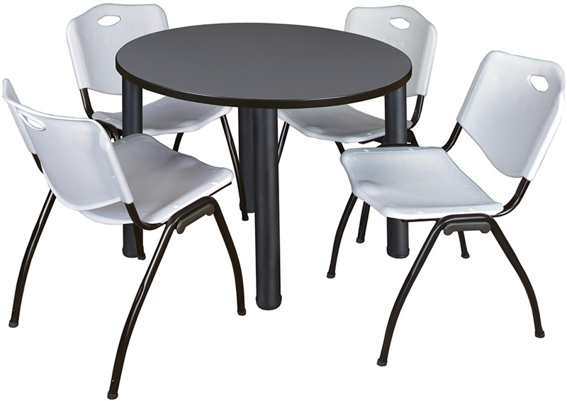 Kee 42 Round Laminate Breakroom Table With 4 M Stack
