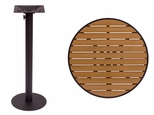 Longport Round Bar Height Table 32'' Synthetic Teak Top - Round Margate Base [PH32RTKBLU-PHTB18RBLT-BFMS]