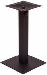 Margate 15.75'' Square Base in Black Powder Coat [PHTB16SQBLU-BFMS]