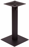 Margate 17.7'' Square Base in Black Powder Coat [PHTB18SQBLU-BFMS]